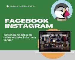 tienda on-line Prestashop - Facebook e Instagram